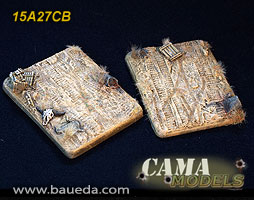 15A27CB - 2 different large vehicle scenic bases (desert)
