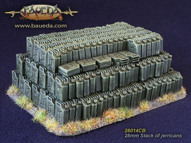 28mm Stack of jerrycans (perfect as objective marker!)